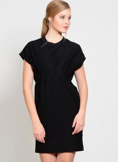 Foxiedox Kısa Kollu Elbise Siyah